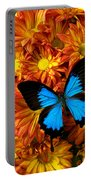 Blue Butterfly On Mums Portable Battery Charger