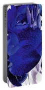 Blue Canna Lily Portable Battery Charger