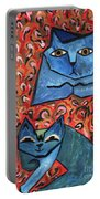 Blue Cats Portable Battery Charger