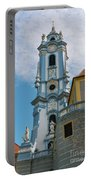 Blue Church Tower In Durnstein Portable Battery Charger