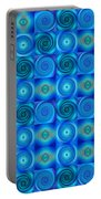 Blue Circles Abstract Art By Sharon Cummings Portable Battery Charger