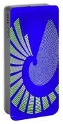 Blue Colored Metal Panel Tempe Center For The Arts Abstract Portable Battery Charger