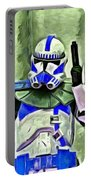 Blue Commander Stormtrooper At Work - Pa Portable Battery Charger