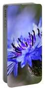 Blue Cornflower Bloom Portable Battery Charger