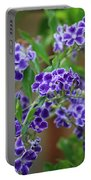 Blue Cottage Flowers Portable Battery Charger