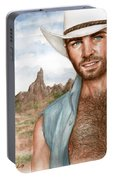 Blue Cowboy Portable Battery Charger