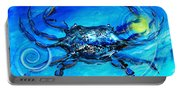 Blue Crab Abstract Portable Battery Charger