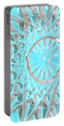 Blue Crystal Snowflake Portable Battery Charger