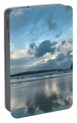 Blue Dawn Seascape With Cloud Reflections Portable Battery Charger