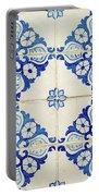 Blue Diamond Flower Tiles Portable Battery Charger