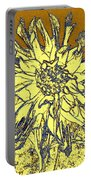 Blue-edged Dahlia Portable Battery Charger