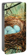 Blue Eggs In Nest Portable Battery Charger