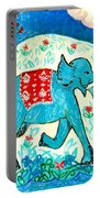 Blue Elephant Facing Right Portable Battery Charger