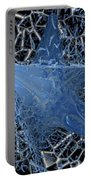 Blue Enmeshed Portable Battery Charger