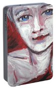 Blue Eyes - Portrait Of A Woman Portable Battery Charger