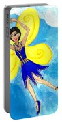 Blue Fairy Detail Of Duck Meets Fairy Ballet Class Portable Battery Charger