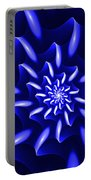 Blue Fantasy Floral Portable Battery Charger