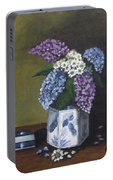 Blue Fish Vase Portable Battery Charger