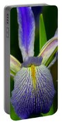 Blue Flag Iris Portable Battery Charger