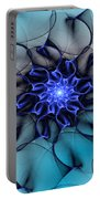 Blue Floral 083010 Portable Battery Charger