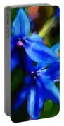 Blue Flower 10-30-09 Portable Battery Charger