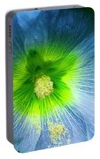 Blue Flower In Morning Sun Portable Battery Charger