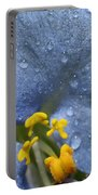Blue Spring Flower Portable Battery Charger