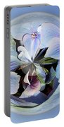 Blue Flower Orb Portable Battery Charger