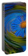 Blue Flower Whirlpool Portable Battery Charger