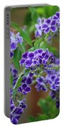 Blue Flowers Card Portable Battery Charger