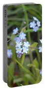 Blue Flowers Portable Battery Charger