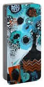 Blue Flowers In A Vase Portable Battery Charger