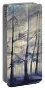 Blue Forest In Winter Portable Battery Charger