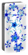 Blue Fractal Flowers Portable Battery Charger