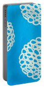Blue Garden Bloom Portable Battery Charger