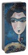 Blue Geisha Love Detail Portable Battery Charger