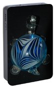Blue Glass Turtle Portable Battery Charger