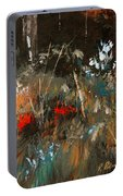 Blue Grass And Wild Flowers Portable Battery Charger