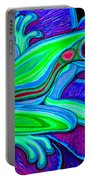 Blue Green Frog Portable Battery Charger