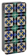 Blue Green Lisbon Tiles Souvenirs Portable Battery Charger