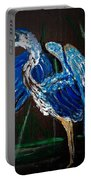 Blue Heron At Night Portable Battery Charger