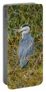 Blue Heron In The Autumn Colours Portable Battery Charger