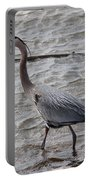 Blue Heron  On The Lake Portable Battery Charger