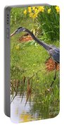 Blue Heron Scene Portable Battery Charger