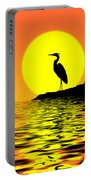 Blue Heron Sunset Portable Battery Charger