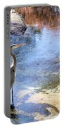 Blue Heron With Shadow Portable Battery Charger