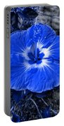 Blue Hibiscus Portable Battery Charger