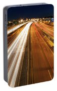 Blue Hour Freeway Light Trails Portable Battery Charger
