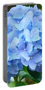 Blue Hydrangea Floral Art Print Hydrangeas Flowers Baslee Troutman Portable Battery Charger