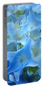 Blue Hydrangea Floral Flowers Art Prints Baslee Troutman Portable Battery Charger